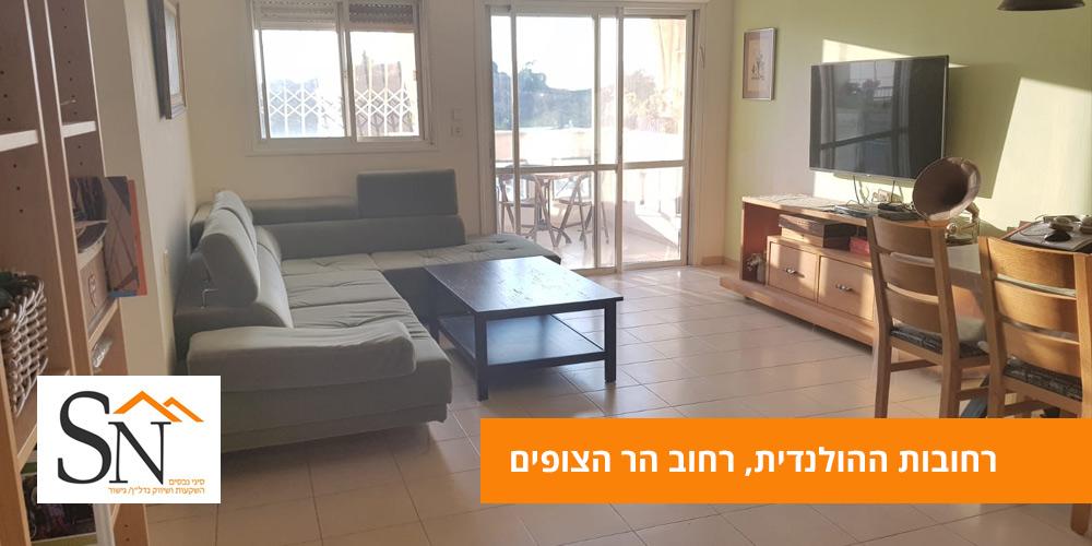 דירה למכירה ברחובות 4 חדרים ברחוב הר הצופים